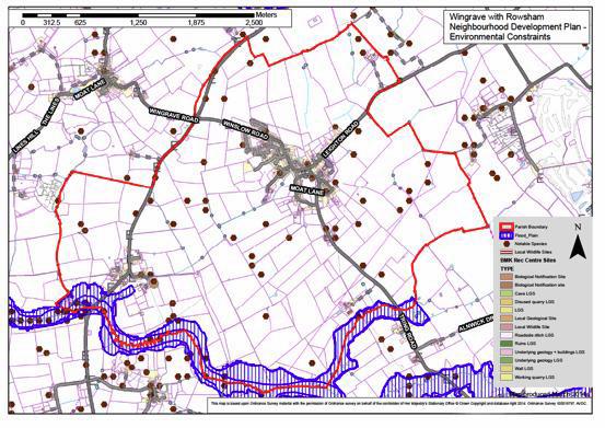 Plan D - Wingrave Environmental Constraints