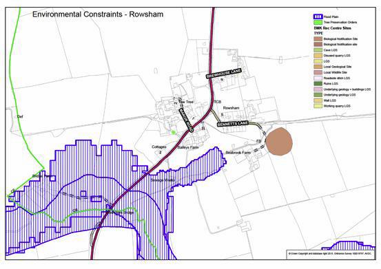 Plan E - Rowsham Environmental Constraints