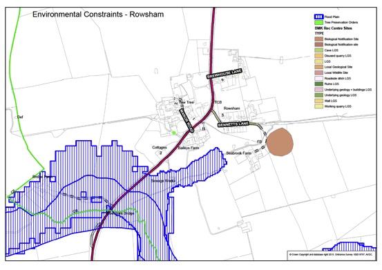 Plan G Rowsham Environmental Constraints