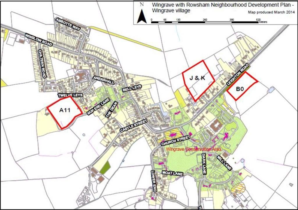 Wingrave With ROwsham Neighbourhood Development Plan - MAP